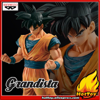 100% Original Banpresto ROS Resolution of Soldiers Grandista Collection Figure Son Goku Gokou Dragon Ball Z 28cm