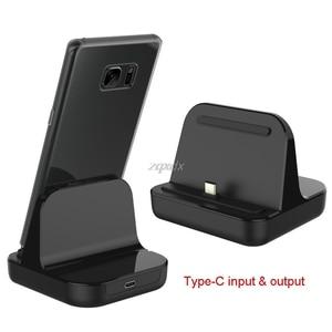 Image 1 - סוג C Dock מטען טעינת שולחן העבודה USB C 3.1 עריסת תחנת עבור אנדרואיד טלפון Whosale & Dropship