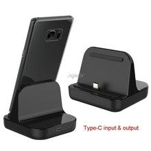 Cargador de carga de escritorio tipo C, estación de cuna USB C 3,1 para teléfono Android, venta al por mayor y envío directo