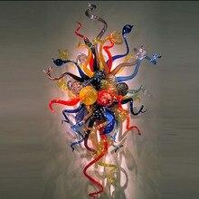 Элегантный светодиодный настенный светильник ручной работы из выдувного стекла