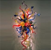 Elegant Wall Sconce LED Lights 100% Hand Blown Glass Flush Mounted Sconces