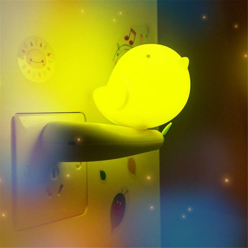 little bird shape light control night light for kids