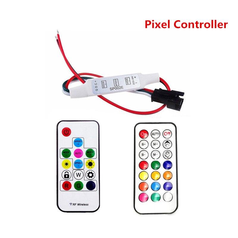 Pixel LED Strip Controller DC5V DC12V DC24V Mini 3key RF 14key RF 21key Wireless Remote Control For WS2811 SK6812 WS2812B 1903