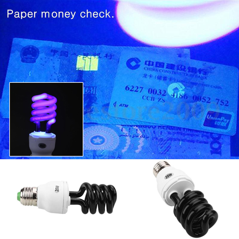 E27 20W Ultraviolet Fluorescent Low Energy Small Screw Lamp Light Bulb Sterilize