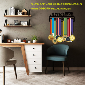 Image 3 - DDJOPH 柔道メダルハンガーホルダースポーツメダルディスプレイハンガーホルダー保持 30 + メダル