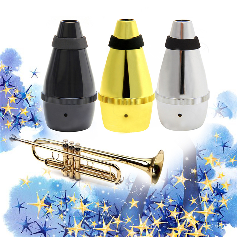 Light Weight Plastic Practice Trumpet Straight Mute Silencer For Instrument