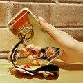 KISSCASE Зеркало Case Для iPhone 6 6 S 7 Плюс Красочный Цветок Ремешок металлическое Кольцо Телефон Обложка Для iPhone 7 6 6 S Роскошные Случаи Мешок капа