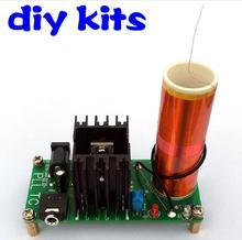 Diy Kits 15 W Mini Musique Tesla Bobine Plasma Haut-Parleur Tesla Arc Générateur Sans Fil Transmission DC 15-24 v(China (Mainland))
