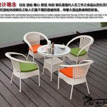 Плетеная дачная мебель Наборы для Садовый кофейный столик стулья LT03