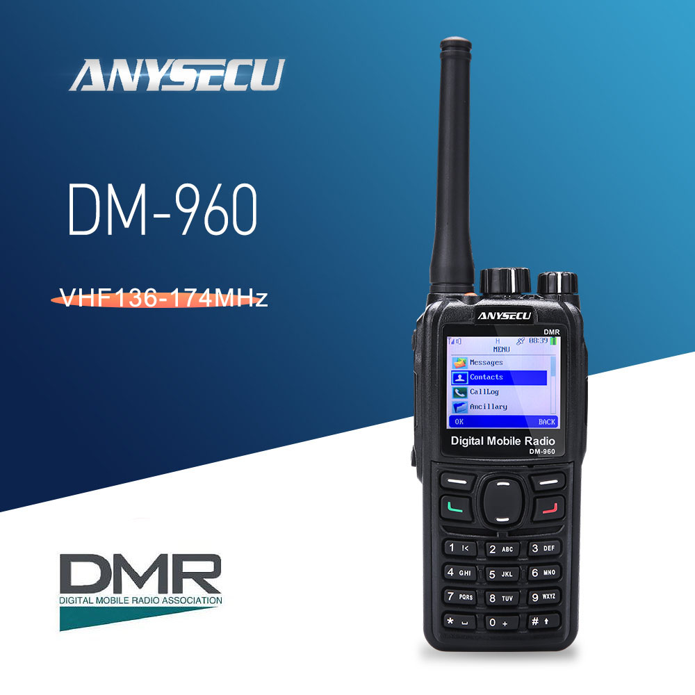 Anysecu DM 960 Digital VHF DMR Two Way Radio Compatible with MOTOTRBO Walkie Talkie