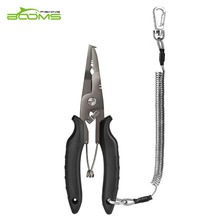 Booms Fishing H03 Pliers Precision Tools with Sheath and Lanyard for Gripping Line Cutting