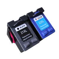 2pcs Set Ink Cartridge Replacement For HP 21 22 Compatible For 1402 1403 1410 OfficeJet 4315
