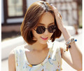 2016 Free shipping Fashion metal star Sunglasses Women men Sun glasses Color glass lens