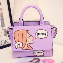 Exquisite Embroidery Fashion Shoulder Bag Lovely Girl Small Bag Ladies Cartoon Printing font b Handbag b