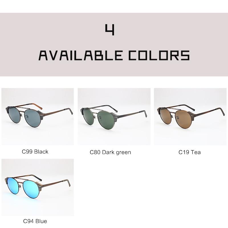 Viewnice Retro Fashion Man gafas aus holz De sol lunette de soleil - Bekleidungszubehör - Foto 5