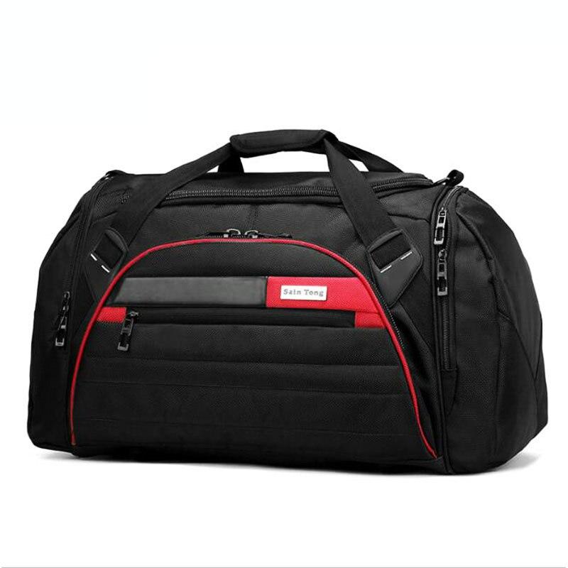 Черный Спортивные сумки большой Ёмкость спортивная сумка Для мужчин для спортзала Открытый путешествия Чемодан сумка для хранения Для муж...