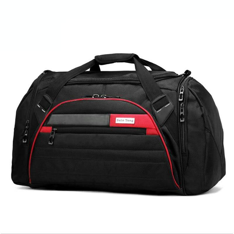 Black Training Bags Large Capacity Sport Bag Men For Gym Outdoor Travel Luggage Storage Bag Mens Fitness Single Shoulder Bag