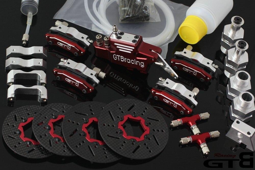 Die HPI baja 5 b 1/5 neue metall kohlefaser vier rad hydraulische scheibenbremse system-in Teile & Zubehör aus Spielzeug und Hobbys bei  Gruppe 1