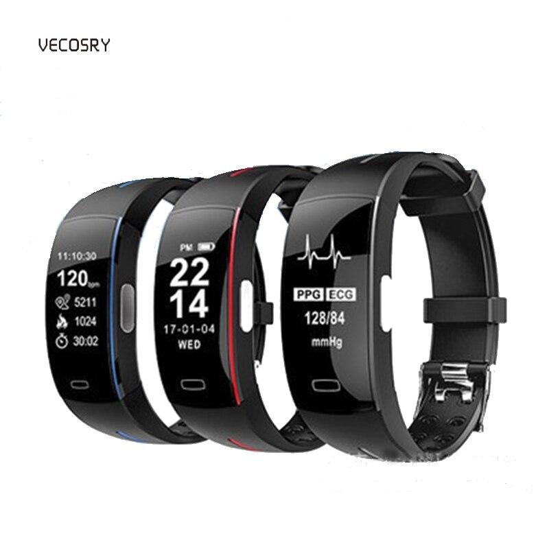 Montre intelligente Fitness Tracker Bluetooth podomètre Bracelet intelligent Bracelet tension artérielle pour IOS Android bande d'usure Xiomi Xiami