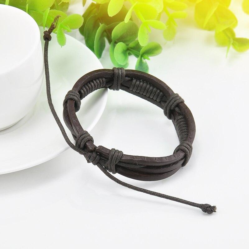 Wrap Multilayer PU Leather Bracelet Men Wristband Bracelets & Bangles For Women Men Fashion Jewelry Pulseras 3