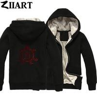 Custom Made Logo Pictures Letters Text Etc. Couple Clothes Boys Man Male Full Zip Autumn Winter Plus Velvet Parkas ZIIART