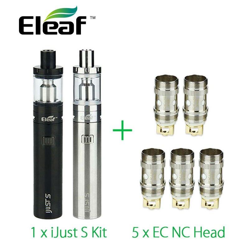 Sigaretta elettronica Eleaf iJust S Vaping Kit 3000 mah 5 pz Eleaf EC NC ijust s Serbatoio atomizzatore testa bobina 4 ML vs ijust 2 VSPE CS02