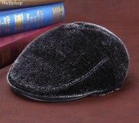 Harppihop חותמות איכות מכירה חמה הפרווה צמר כובע חם אוזן גברי כובע חיצוני כובע פרווה חורף quinquagenarian 54 ס