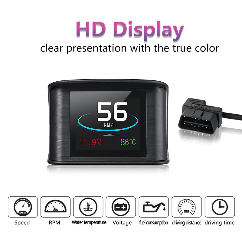 Новые P10 Hud Smart вождения компьютер Head-Up Дисплей расход топлива Температура датчик инструмент диагностики Бесплатная доставка