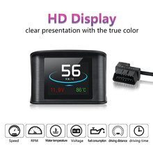 Newest P10 Hud Smart Driving Computer Head-Up Display Fuel Consumption Temperature Gauge Diagnostic Tool Free Shipping
