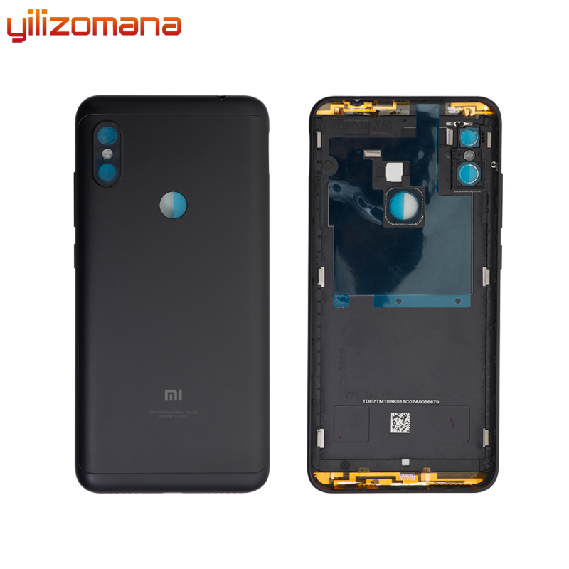 YILIZOMANA Original Replacement Battery Back Cover For Xiaomi Redmi Note 6 Pro Phone Rear Door Housings Hard Case Free Tools in Mobile Phone Housings Frames from Cellphones Telecommunications