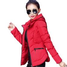 2016 Winter Jacket New Fashion Women Down jacket Slim Large size Hooded Jacket Students Women Thick Warm Cotton Outwear