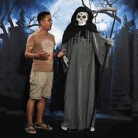 Зомби свет Grim Reaper призрак украшения ужастики для хеллоуина привидениями кукла Electricidad Casa жуткий череп Sickle призраки