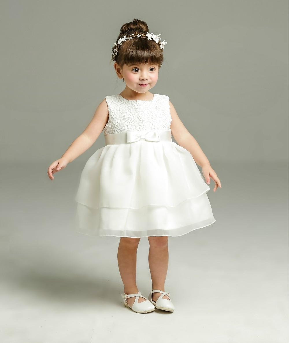 1 Year Baby Girl Birthday Dress Ivory Christening Gown Newborn Lace Party Dress Baptism Dress Princess