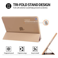 protective pu leather Tri-folded TPU Tablets Case For iPad Air 2 9.7 Soft Protective Covers PU Leather Tablet Smart Case For iPad Air Case iPad Air9.7 (4)