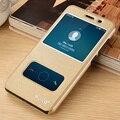 Huawei y5 ii ver janela pu de couro casos de cobertura de aleta para huawei y5 ii/huawei y6 ii compact 5.0 polegada phone case shell #0921