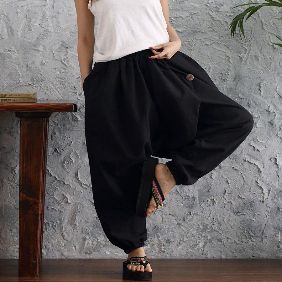 5c5ab2b805 Detail Feedback Questions about plus size boho harem pants women casual  baggy elastic waist cross pants drop crotch gypsy hippie dance lacks  trousers ...