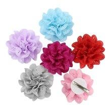 16 цветов крошечные выдолбленные цветы заколки для волос милые детские маленькие заколки для девочек принцесса головные уборы аксессуары для волос розовый