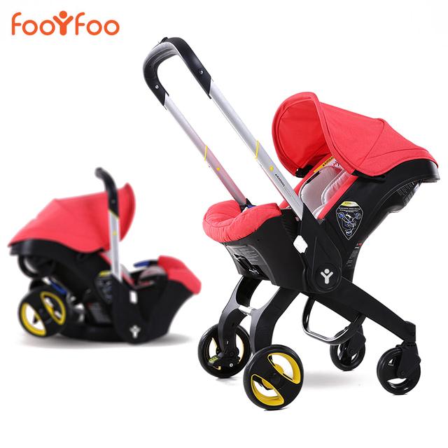 2016 Carrinho De Bebê 3 em 1 Bebê Recém-nascido Dormindo Cesta Carrinho de Bebê Fácil Dobrar Carrinho De Bebê Do Assento de Carro da Segurança do bebê alta qualidade