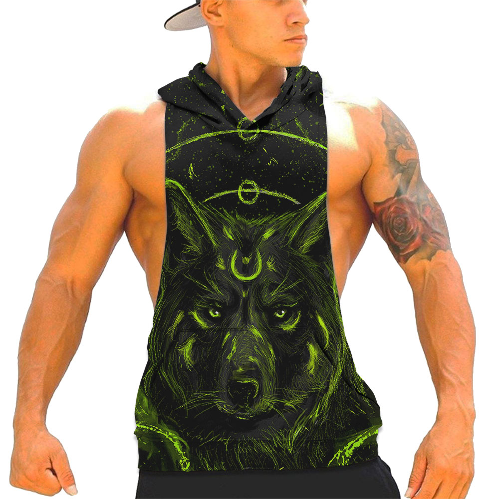 BTS 3D Fashion Sleeveless Men's   Tank     Tops   2019 Summer Hot Sale Fashion Casual 3D Cool Printed Hooded Vest 2XS-4XL