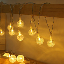3/5m fairy lights string battery power bubble ball light wedding Christmas holiday lighting decorative