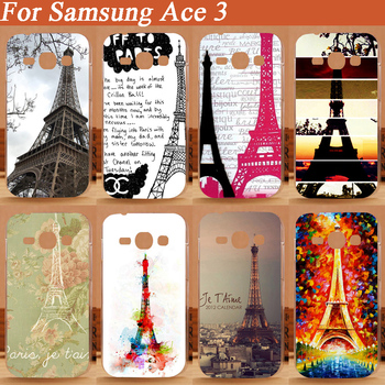 3D DIY Painting colorful Eiffel Towers Cover patterns Hard Case For Samgsung Galaxy Ace 3 III S7270 S7272 Protection Back Cases image