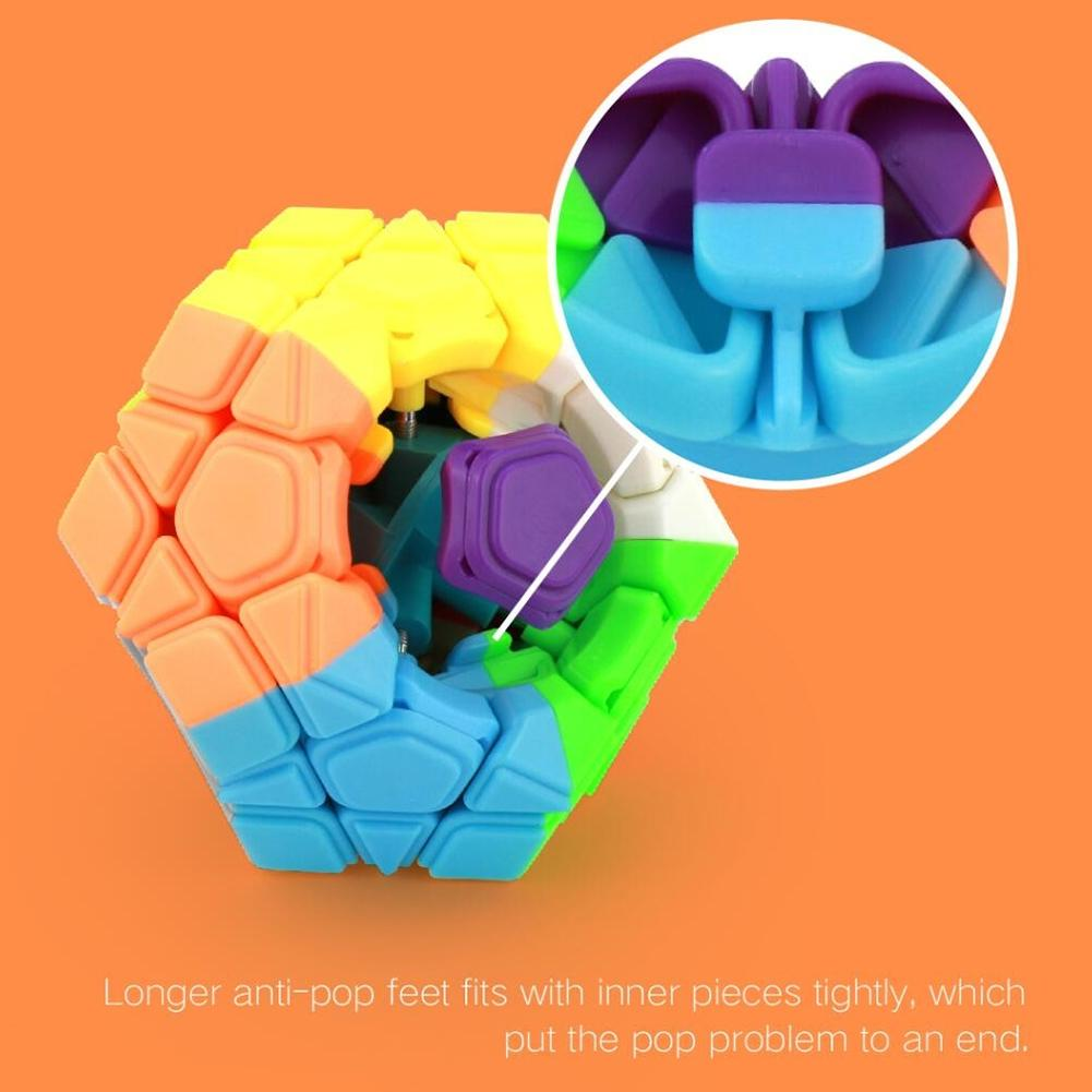 RCtown Cube Brain Teaser Puzzle Fun Smooth Toy for Children Adult Challenging Professional Speed Cube zk30