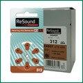 Baterias do Aparelho Auditivo Resound 312 a312 pr41 p312 para HSE ITC auditivos Alemanha zinc air Bateria botão celular (60 pçs/saco))