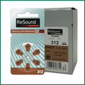 Resound Hearing Aid Batteries 312 a312 p312 pr41 for ITC HSE Hearing aids Germany zinc air cell button Battery (60 pcs/bag))