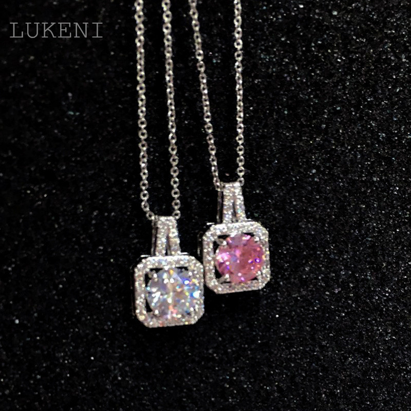 New South Korea Fashion White ZC Micro Inlay AAA Zircon,Geometrical Necklace For Gril To ...
