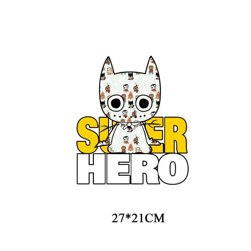 Dessin animé Batman Patch Fer sur Transfert Super-Héros Patchs pour Vêtements pour Enfants t-shirt bricolage Appliques De Transfert De Chaleur Vinyle Autocollants