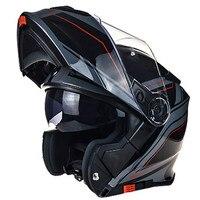TORC Flip Up Racing Motorcycle Helmet With Inner Visor Dual Lens Full Face Moto Helmets Capacete