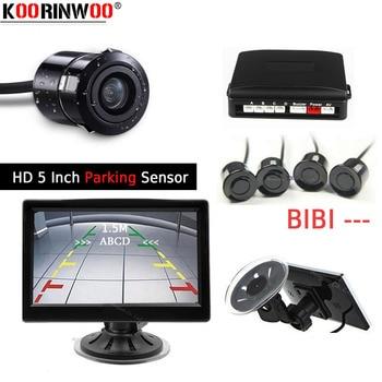 Koorinwoo Parktronic Sucker 5Inch Car Video Monitor Rear View Camera Car Parking Sensor Sound Blind Einparkhilfe Car accessories