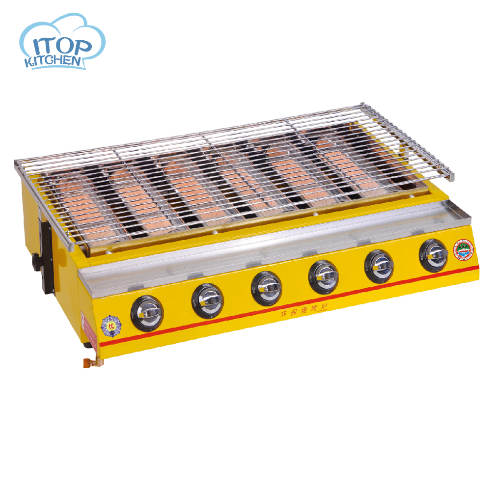 ᗚ6 Burners Gas BBQ Grill Stainless Steel Barbecue Stove Outdoor ...