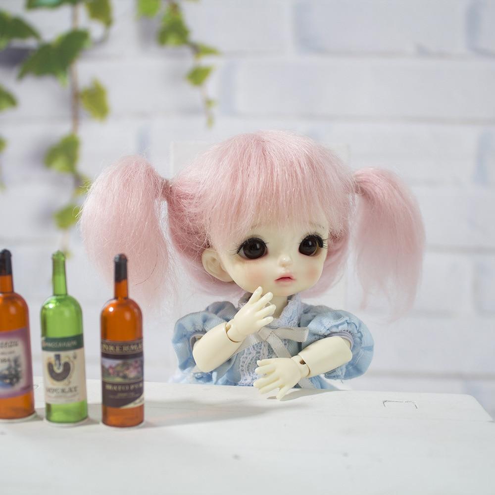 "5-6/"" 14cm BJD fabric fur wig flaxen short hair for AE PukiFee lati 1//8 Doll"